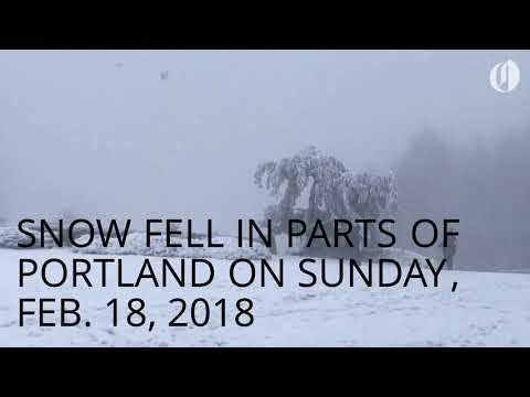 Snow in Portland on Sunday, Feb. 18, 2018