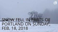 Snow in Portland on Sunday, Feb. 18, 2018