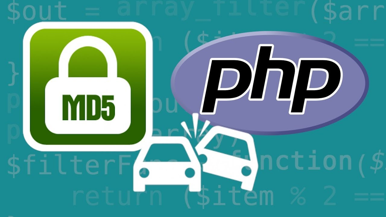 PHP Weak Comparison with MD5 Collisions