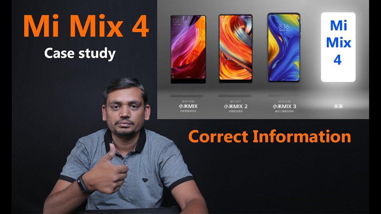 Xiaomi Mi Mix 4 Design, 48MP Camera, 5G Network, Snapdragon 855, Specs &  Release Date (Hindi)