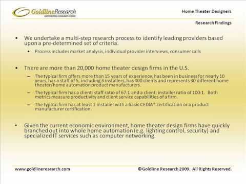 Goldline Research Home Theater Designers United States Industry Overview