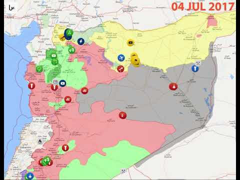 Animation map of Syrian Civil War 1 July 2016 - 14 January 2018 ...