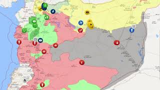 Animation map of Syrian Civil War 1 July 2016 - 14 January 2018