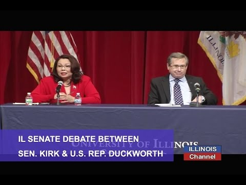 Illinois Senate Debate: Mark Kirk (R) v Tammy Duckworth (D)
