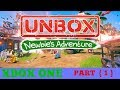 Unbox Newbie's Adventure xbox one let's play intro ( early access ) part one