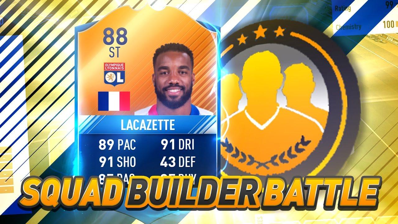FIFA 17: MOTM LACAZETTE SQUAD BUILDER BATTLE ⛔⚽ - YouTube