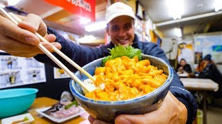 Unbelievable SEA URCHIN (Uni) Rice Bowl - JAPANESE FOOD in Otaru, Hokkaido, Japan!