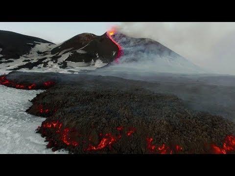 Drone footage: Mt. Etna's biggest eruptions in 2017
