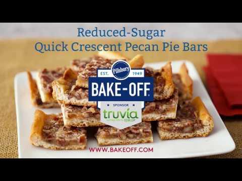 Reduced Sugar Quick Crescent Pecan Pie Bars | Pillsbury ...