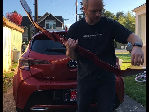 How to install a factory spoiler on a 2019 Toyota Corolla Hatchback
