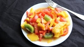 Mango Fruit Salad Recipe (9.25.12 - Day 44) Vegan, Vegetarian