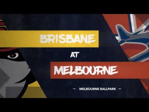 LIVE: Brisbane Bandits @ Melbourne Aces, R3/G1