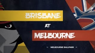 GAME REPLAY: Brisbane Bandits @ Melbourne Aces, R3/G1 thumbnail