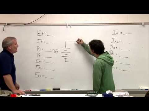 Electronics Solving series, parallel, complex resistance problems - Ohm's law - Kirchoff's law