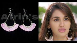 Anchal(Nikita Dutta) Inspired Earrings Tutorial /How to make Tassels earrings at home