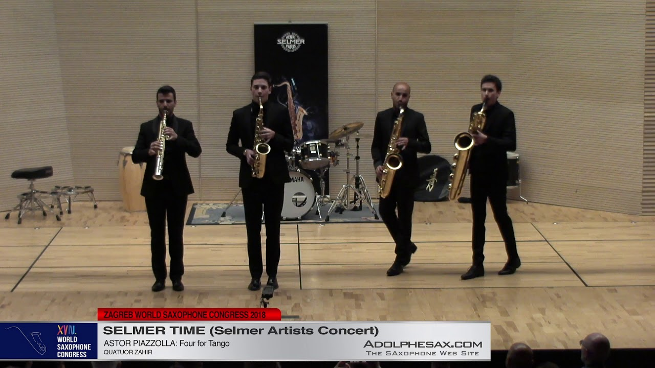 Four for Tango by Astor Piazzolla   Quatuor Zahir   XVIII World Sax Congress 2018 #adolphesax