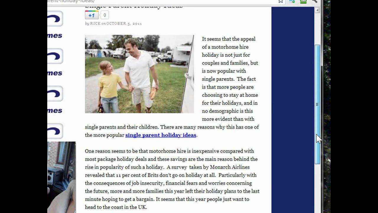 Single Parent Holiday Ideas - YouTube