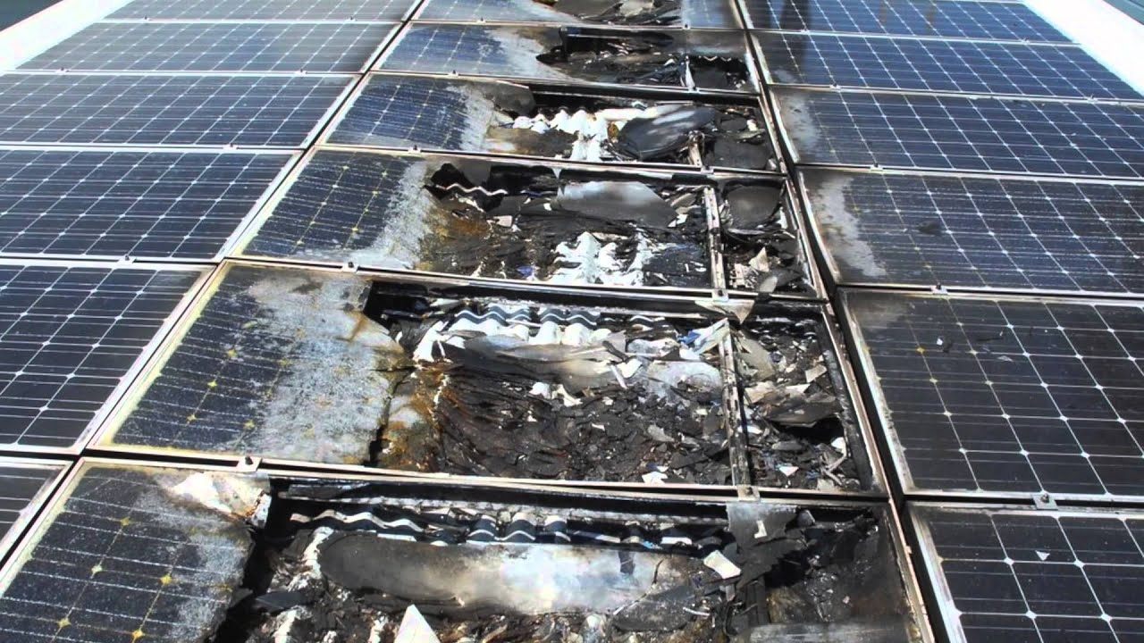 A possible cause of PV Panel fires