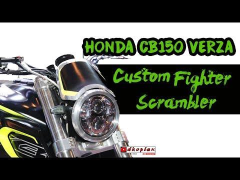 MODIFIKASI Honda CB150 Verza Custom Fighter Scrambler semakin MACHO!