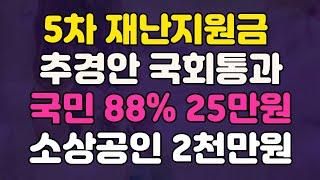 [속보 추경 국회통과] 5차 재난지원금 대상 지급시기 …