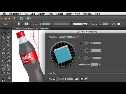 Crear elementos en 3D con Illustrator  YouTube