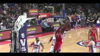 James Harden bruised left knee injury: Houston Rockets at Detroit Pistons