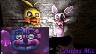 - sfm fnaf Toy Chica si Mangle reactioneaza la FNAF Sister Location Trailer 1
