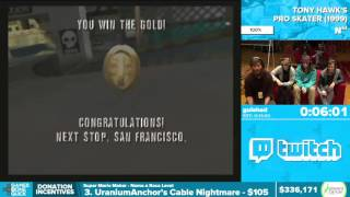 Tony Hawk's Pro Skater by guished in 9:46 - Awesome Games Done Quick 2016 - Part 66