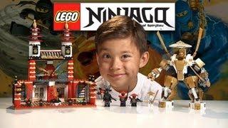 TEMPLE OF LIGHT - LEGO NINJAGO Set 70505 - Time-lapse Build, Unboxing & Review GOLDEN NINJA POWER!
