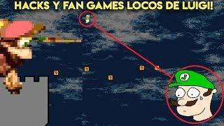 Probando Hacks y Fan Games Extraños de LUIGI con Pepe el Mago