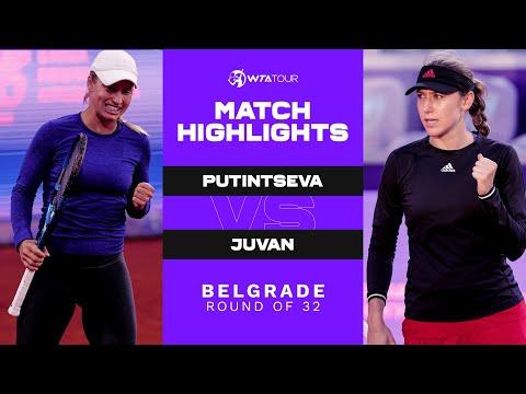 Yulia Putintseva vs. Kaja Juvan   2021 Belgrade Round 1   WTA Match Highlights