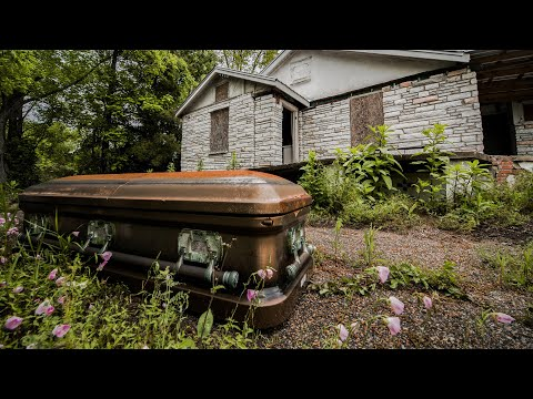 Abandoned Funeral Home - Found Coffins, Hearse, and Baby Caskets