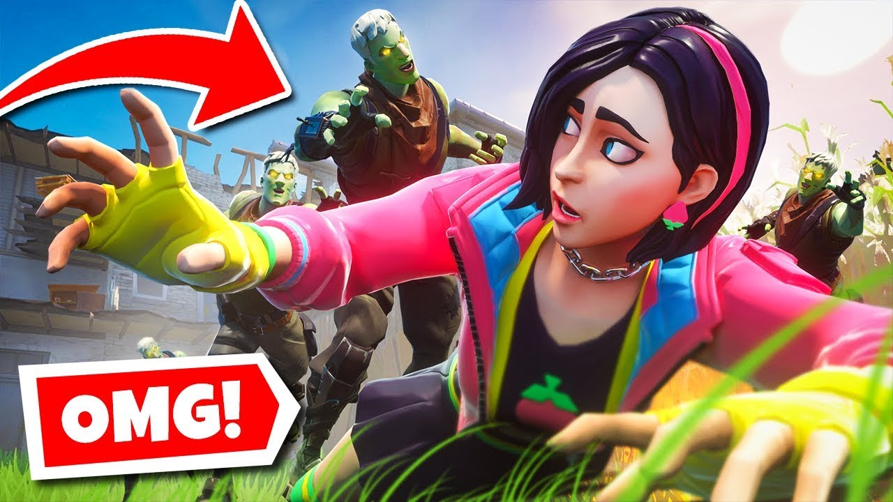 SURVIVE the ZOMBIE HORDE or ELSE! (Fortnite Infection ...