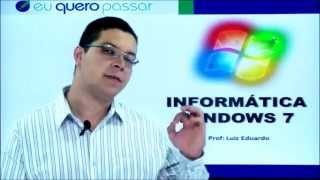 INFORMATICA WINDOWS 7- PRINCIPAIS PROGRAMAS PAINEL DE CONTROLE -LUIZ EDUARDO- AULA 21 TEORIA