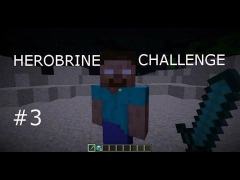 """Minecraft Herobrine Challenge #3:""""The Mute Episode"""" Read Description"""