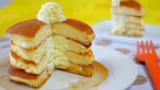 Trick Recipes: Faux Pancakes Souffle cake なんちゃってホットケーキ 冷蔵庫開けて「ホットケーキ?」「違うよん、スフレだよん」な作り置きレシピです