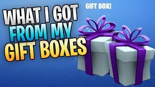 FORTNITE - What I Got From My Gift Boxes (New UI, Homebase Walkthrough)