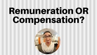 The difference between agency remuneration and compensation