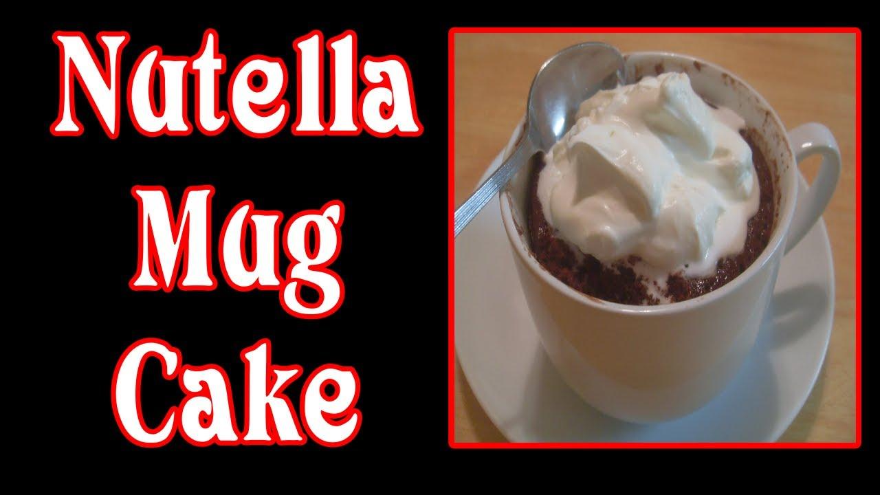 Mug Cake Nutella Youtube