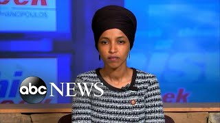 """Abc news chief anchor george stephanopoulos interviews rep. ilhan omar, d-minn., on """"this week""""subscribe to news: https://bit.ly/2vzb6ypwatch more htt..."""