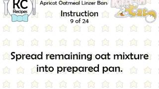 Apricot Oatmeal Linzer Bars - Kitchen Cat