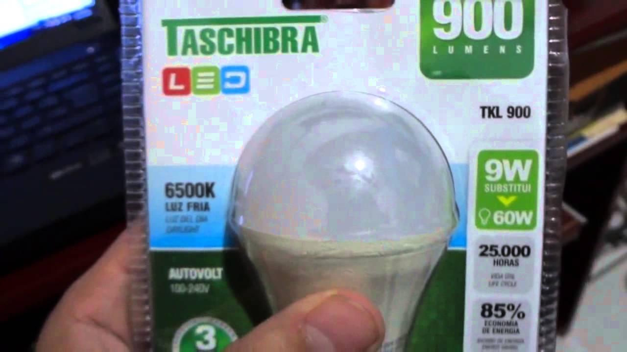 Teste lampadas em led compensa s o econ micas video for Lampada alogena lineare led