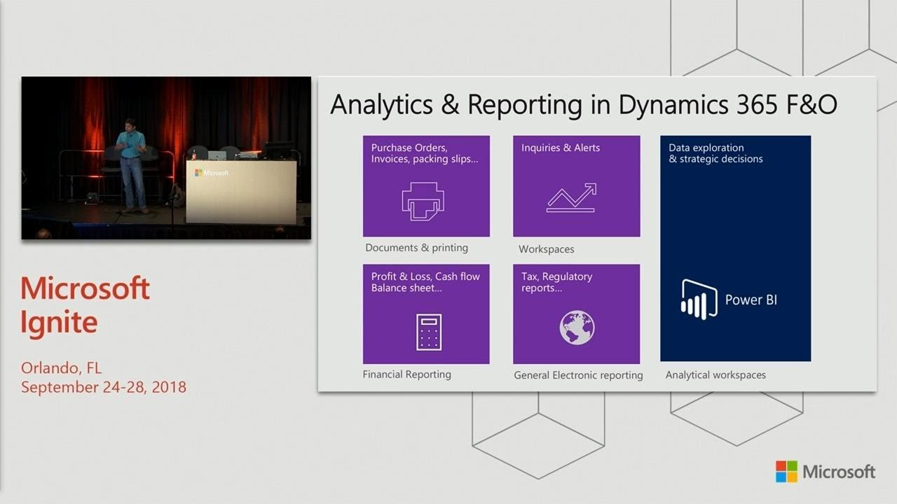 Microsoft Dynamics 365 for Finance & Operations and Power BI: Intro to  building - BRK1045