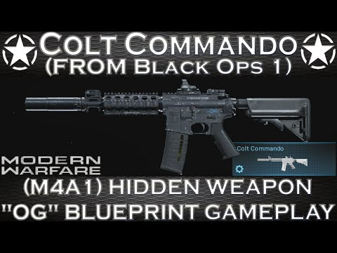 Modern Warfare Colt Commando From Call Of Duy Black Ops 1 (M4A1) Hidden Weapon