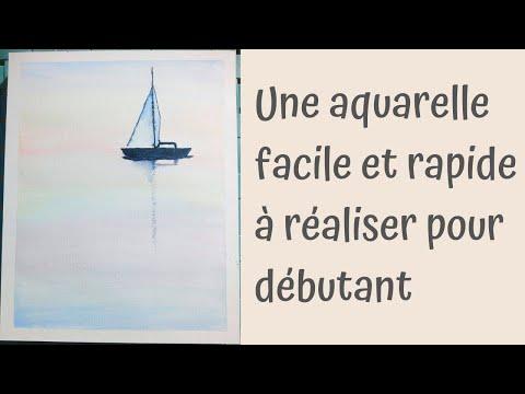 Peindre Un Bateau Sur La Mer A L Aquarelle Video Peinture Aquarelle Facile