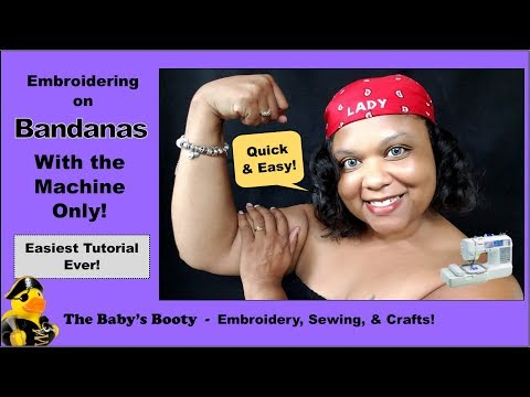 🔴 How To Embroider A Bandana & Headband From Dollar Tree! I Missed Tuesday ☹ Let Me Show You Why...