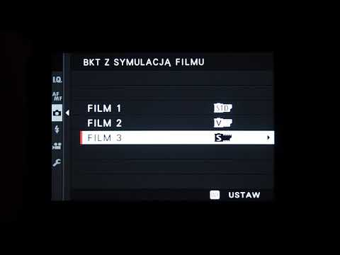 Fujifilm X-Pro3 - Menu Fotografowania