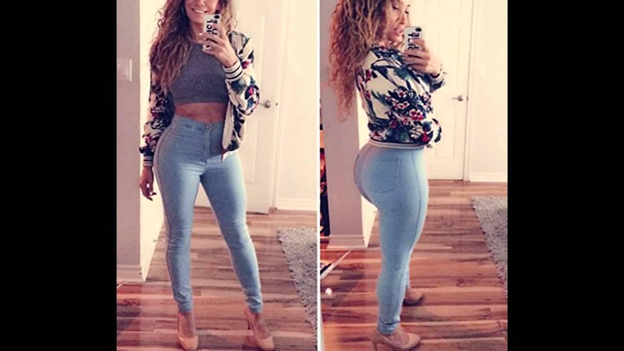 Creabygirls Womens Sexy Waist Denim Trousers Slim Curve Skinny ...