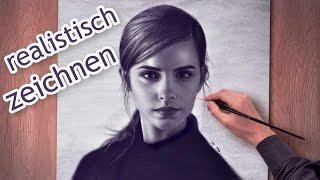 Emma Watson gemalt in Öl vom Foto (realistisch) Portraitzeichnung Bilder malen