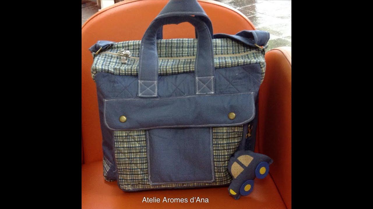 Bolsa De Tecido Jeans Como Fazer : Como fazer um kit de bolsa maternidade